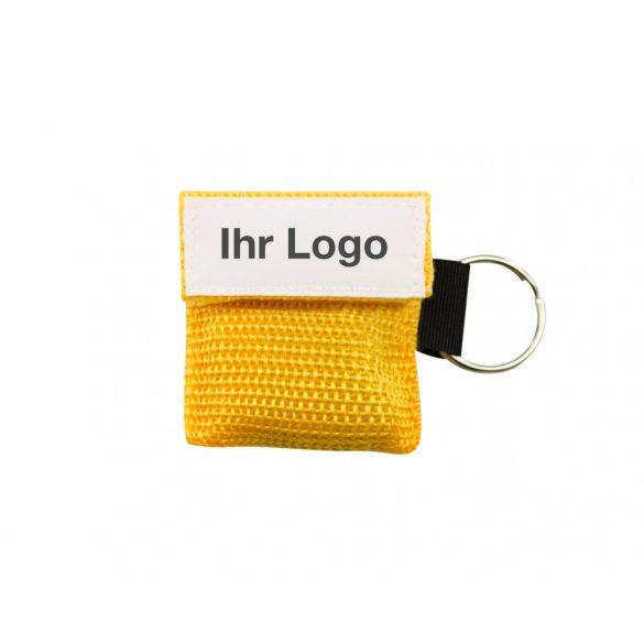 AERObag CPR lélegeztető fóliamaszk kulcstartó tokban egyedi logóval 12 színben