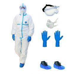 Fertőzésvédő készlet, komplett személyi védőfelszerelés