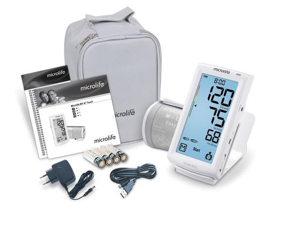 Microlife BP A7 Touch felkaros érintőképernyős vérnyomásmérő