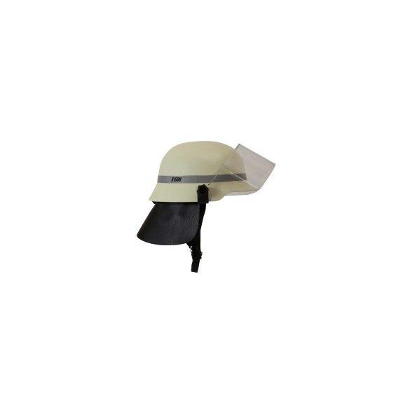Bullard H1500 sisak arcvédővel és nyakvédő bőrrel tűzoltó, mentő munkára